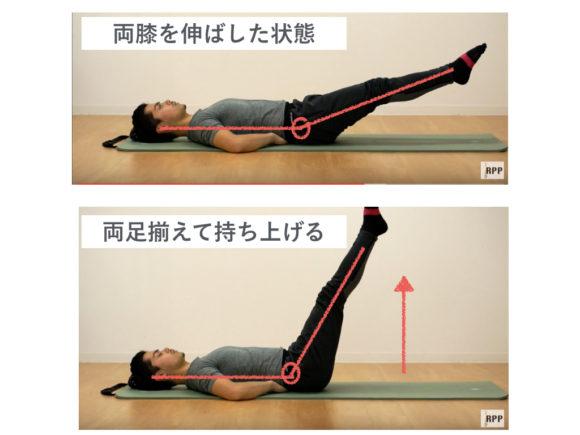 膝伸ばし・両足バージョン