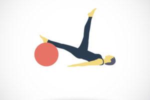 38566440 - yoga. single flat icon on white background. vector illustration.