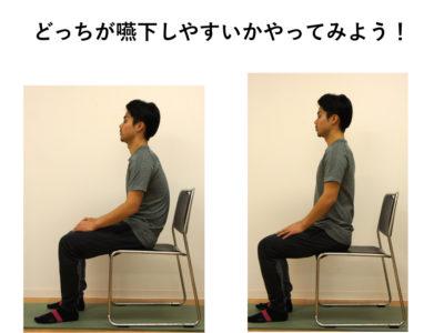 嚥下動作と姿勢の関係