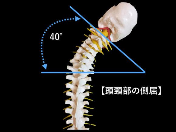 頭頸部の側屈可動域