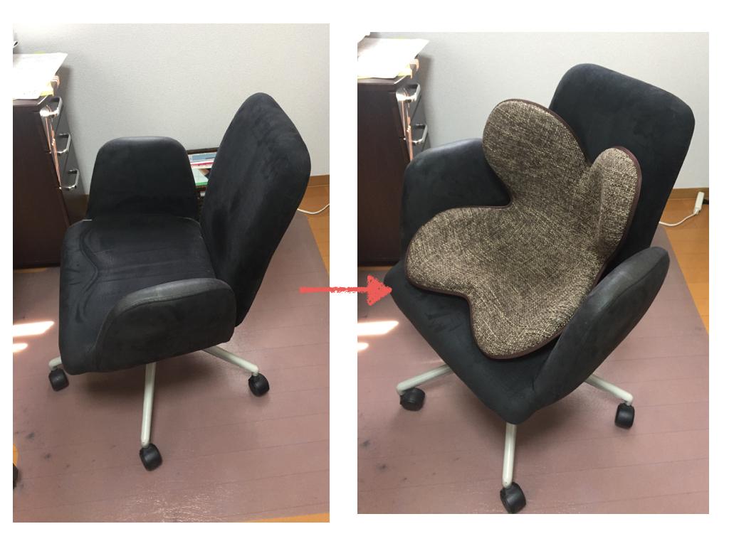 パソコン用に椅子に置く